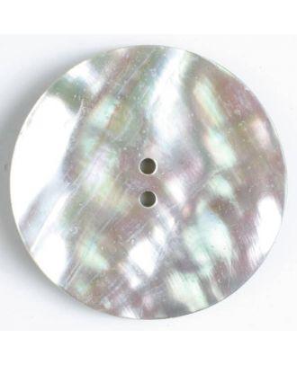 Echter Perlmuttknopf - Größe: 44mm - Farbe: grau - Art.-Nr.: 500010