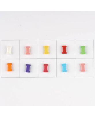 Buchstabe  I , 10 Farben gemischt, pro Farbe 3 Stück - Größe: 11mm - Farbe: Mischung: rot,pink,orange,lila,blau,gelb,grün,weiß, hellblau,rosa - Art.-Nr.: 181341
