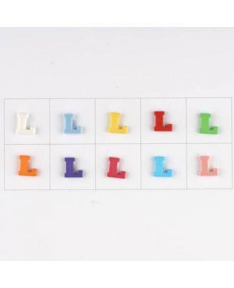 Buchstabe  L , 10 Farben gemischt, pro Farbe 3 Stück - Größe: 11mm - Farbe: Mischung: rot,pink,orange,lila,blau,gelb,grün,weiß, hellblau,rosa - Art.-Nr.: 181344