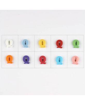 Buchstabe  Q , 10 Farben gemischt, pro Farbe 3 Stück - Größe: 11mm - Farbe: Mischung: rot,pink,orange,lila,blau,gelb,grün,weiß, hellblau,rosa - Art.-Nr.: 181349
