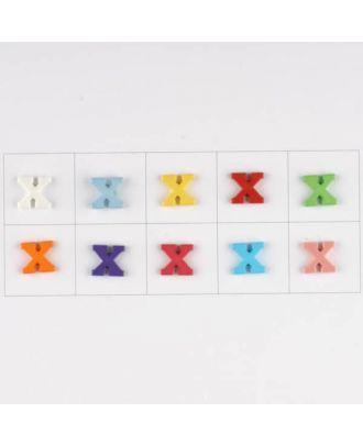 Buchstabe  X , 10 Farben gemischt, pro Farbe 3 Stück - Größe: 11mm - Farbe: Mischung: rot,pink,orange,lila,blau,gelb,grün,weiß, hellblau,rosa - Art.-Nr.: 181356