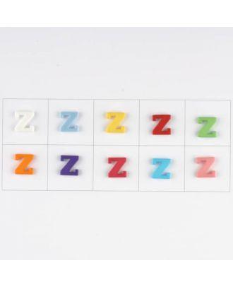 Buchstabe  Z , 10 Farben gemischt, pro Farbe 3 Stück - Größe: 11mm - Farbe: Mischung: rot,pink,orange,lila,blau,gelb,grün,weiß, hellblau,rosa - Art.-Nr.: 181358