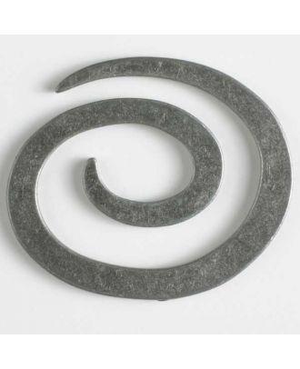 Vollmetall-Spiralverschluss zum Eindrehen, schlangenförmig - Größe: 50mm - Farbe: altzinn - Art.Nr. 480908